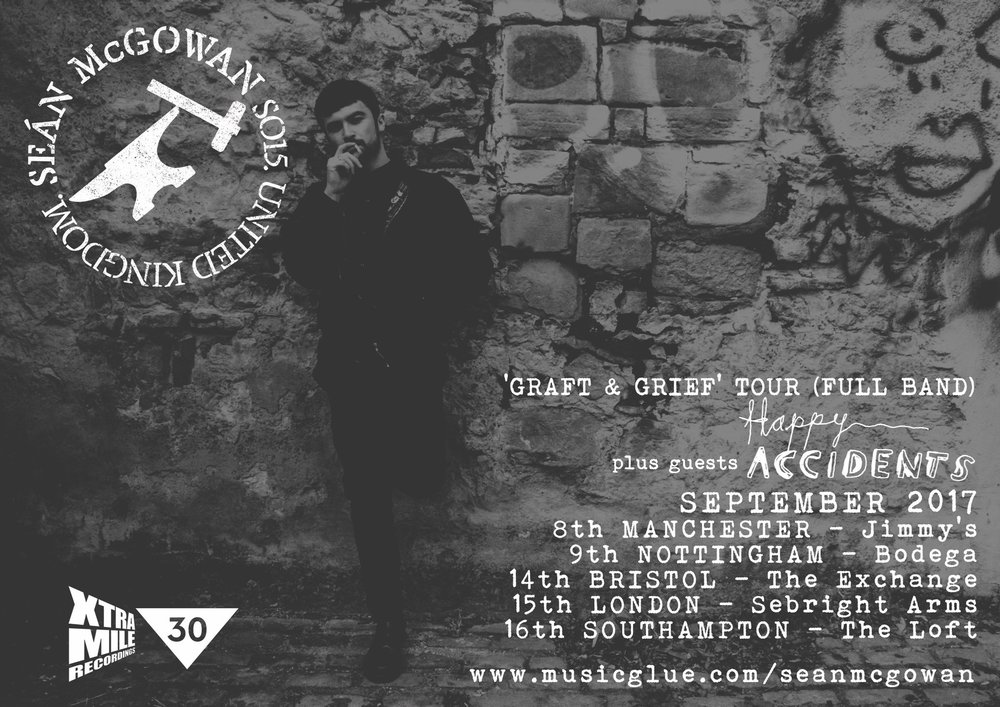 Seán McGowan UK Septmber 2017 tour dates poster