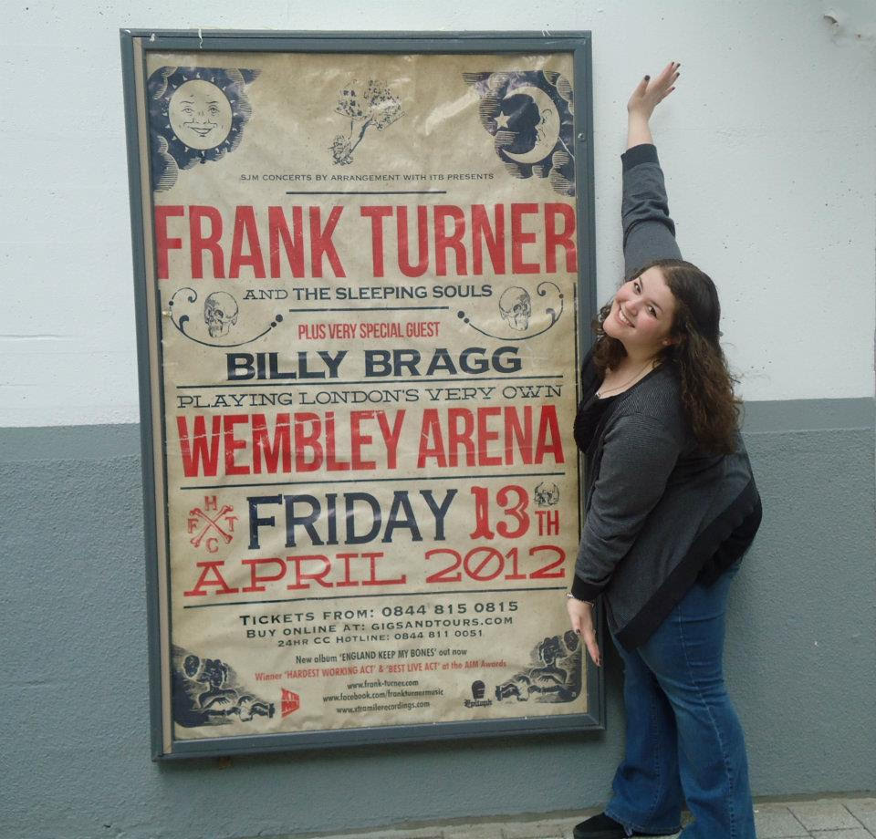 Val and the glorious Wembley Arena promotional poster