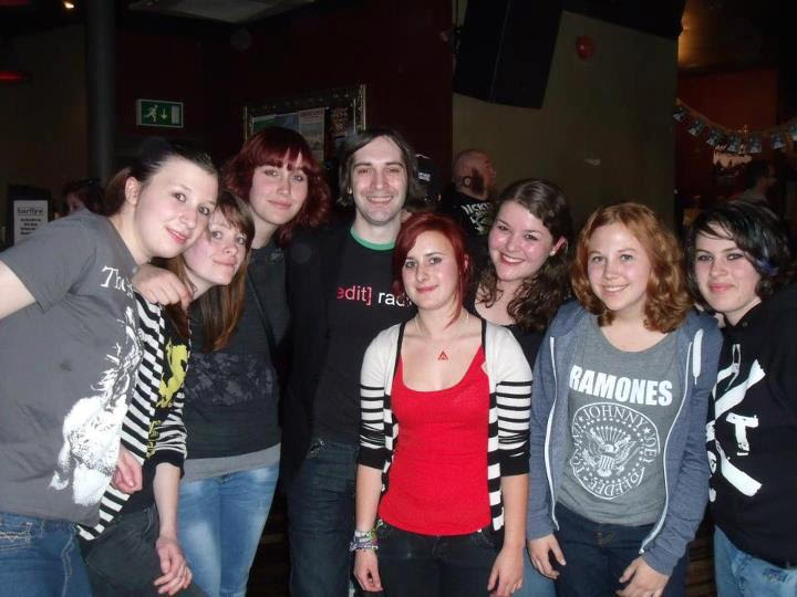 A group of Frank fans who all met because of the internet - from the UK, Netherlands, France, Austria, and USA – with Ben Marwood at the XMR Night Before Wembley pre-show at the (then) Camden Barfly.