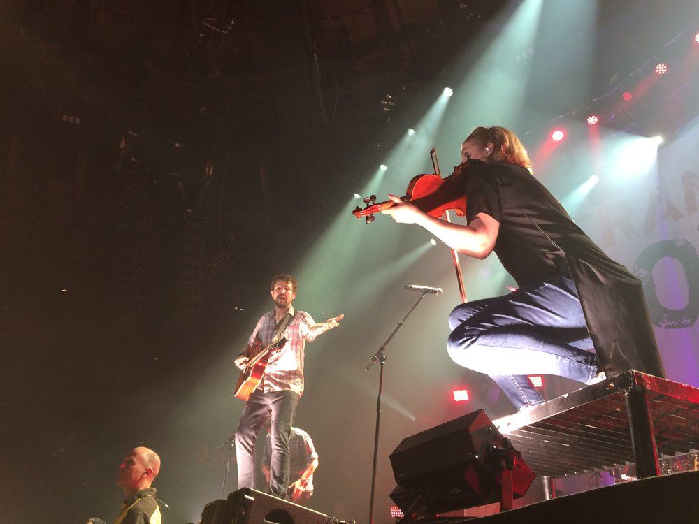 Live violins at the Camden Roundhouse 12 May 2018. Image: Evan Cotter