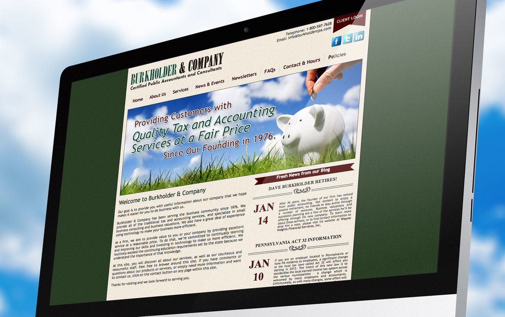 Burkholder & Company Website