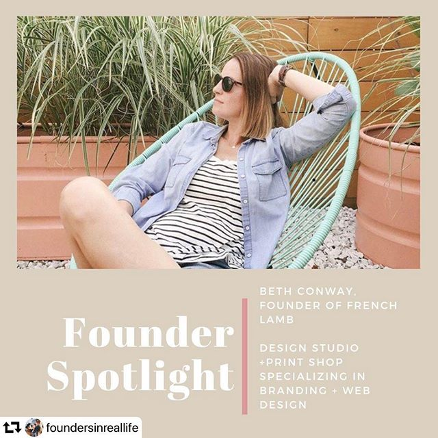 @foundersinreallife helps women entrepreneurs find creative events – and real life experiences – across the world.  I recently had the opportunity to speak with their founder Krystle. Check it out! ・・・ Want to meet someone who makes branding and web design as easy, breezy, and simple as this?  Meet Beth - a fellow introverted-mama-entrepreneur who owns a design studio. French Lamb, @frenchlamb Beth's design studio and print shop, specializes in clean, concise design that is simply refined especially for small shops like us.   In this edition of Founder Spotlight, she talks about the struggles running a business (without a business background) and the struggle of being present, whether working or with the family.   Who CAN'T relate to that, right?!  Beth gives us her best advice on being authentic, following our passions, and taking risks with the things that truly make us happy.   Learn more about Beth's story and studio on the blog today! Link in bio.     #mommade #businessretreat #creativemamas #femalefounder #creativewomen #brandinfluencer #mamamakers #femalefounders #makermama #dontquityourdaydream #femalefounders #mamamaker #craftymom #femaleceo #womenwhodo #momshop #mamamade #mommaker #imperfectboss  #sheeo #herestothecreatives #settinggoals #workathomemom #businessbabes #girlbosslife #femtrepreneur #girlbossmovement #womenwithambition #bossladies #crushyourgoals