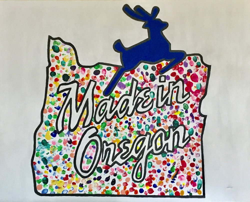 Frisby's Kindergarten - Made in Oregon Painting