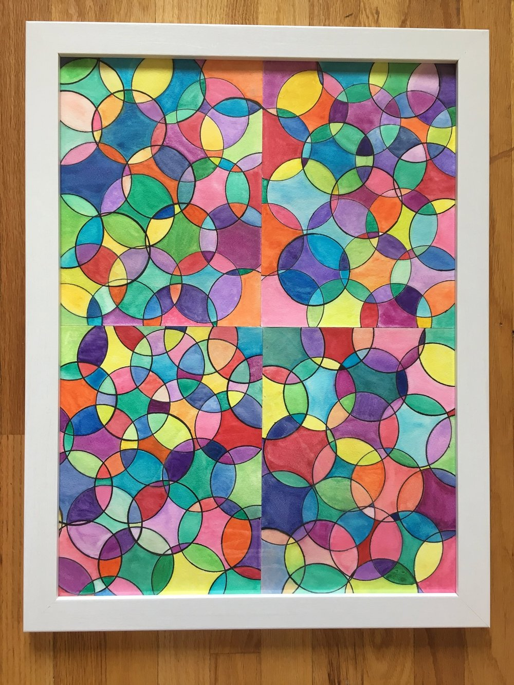 Hopkins 2nd Grade - Watercolor Kaleidoscope