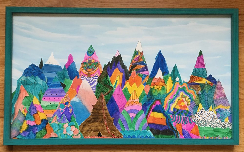 Mr. Rozell's 5th Grade Class - Mountain Peaks