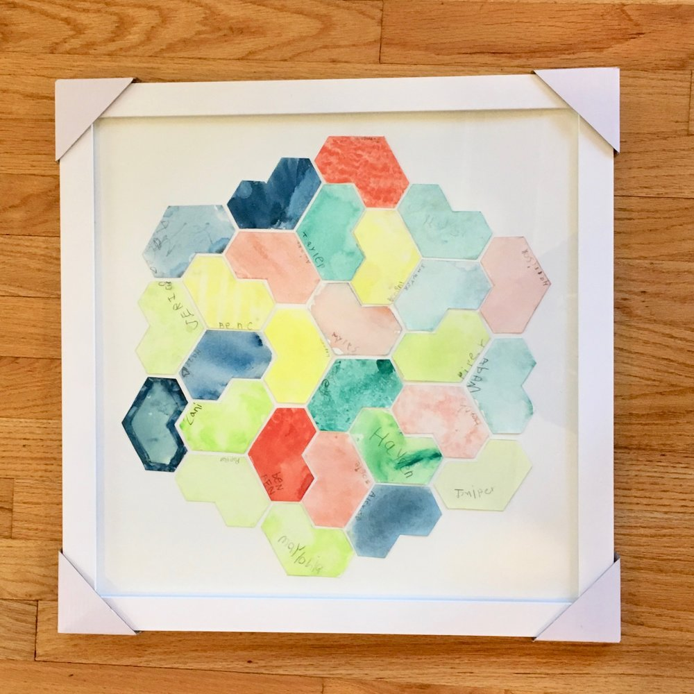 Kanz - Kindergarten - Watercolor Geometric Hearts