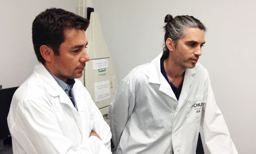 Drs. Nicolas Chomont (left) and Rémi Fromentin