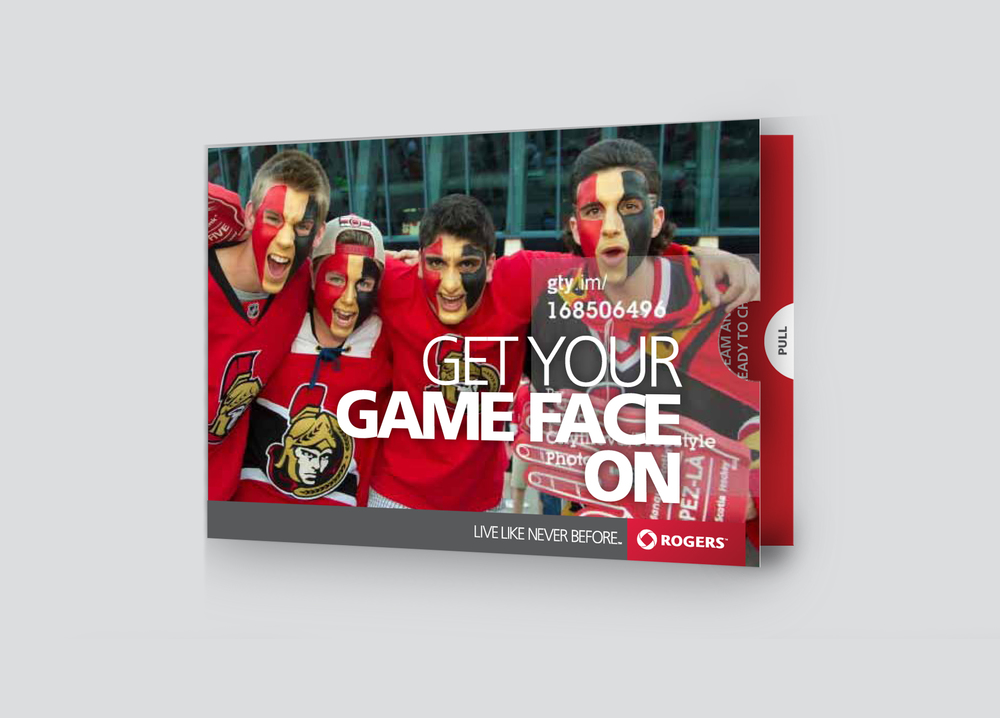 'Game Face' Concept Cover of a 'pull-out' card-fold DM