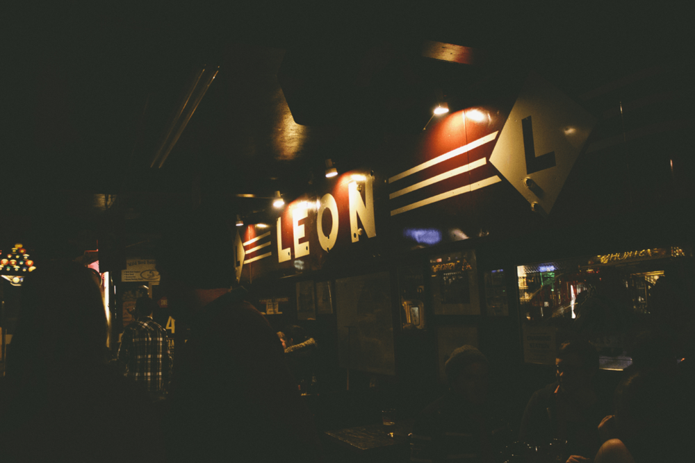 Local favorite to grab a beer, Leon Pub.