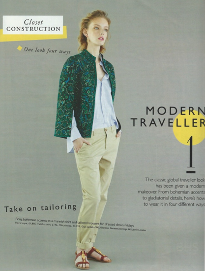 Grazia UK - Closet Construction: Modern Traveller