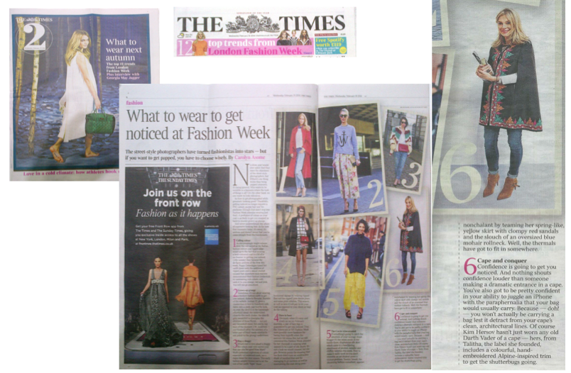 The Times - What To Wear To Get Noticed At Fashion Week