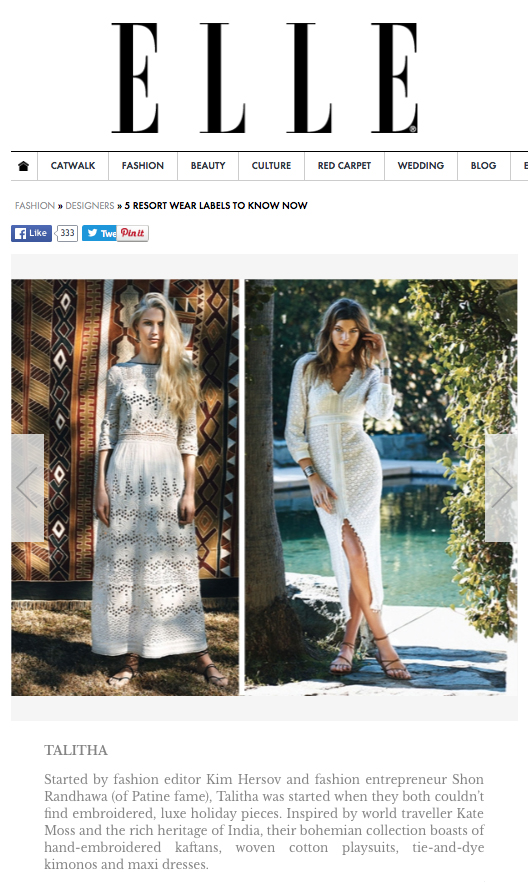 Elle India - Five Resort Labels To Know Now