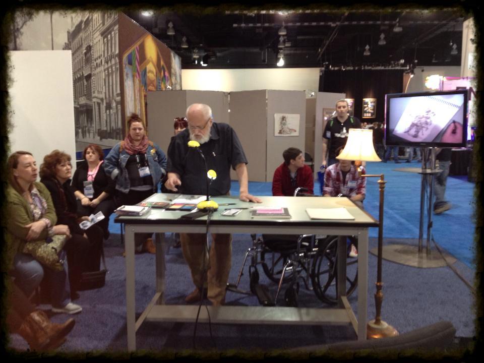 Inspiring to watch designer Desmond Heeley work at the National USITT conference in Milwaukee 2013.