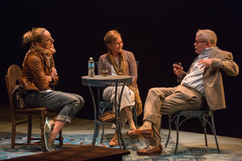 Miranda  by James Still for Indiana Repertory Theatre 2017 Photo courtesy IRT. From left to right, Jennifer Coombs, Mary Beth Fisher and Torrey Hanson.