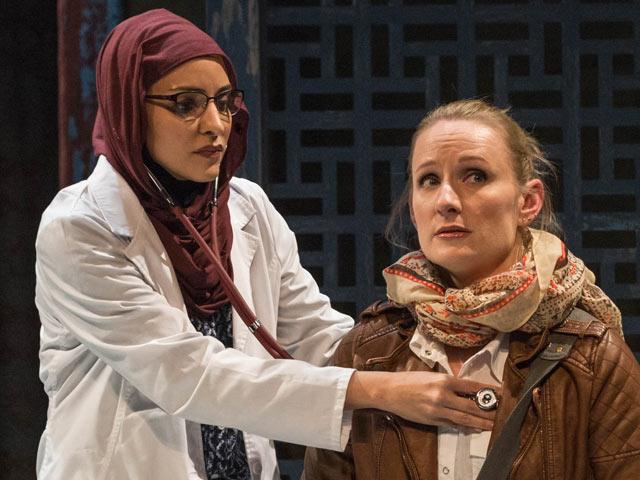 Arya Daire as Dr Al-Agbhari & Jennifer Coombs as Miranda