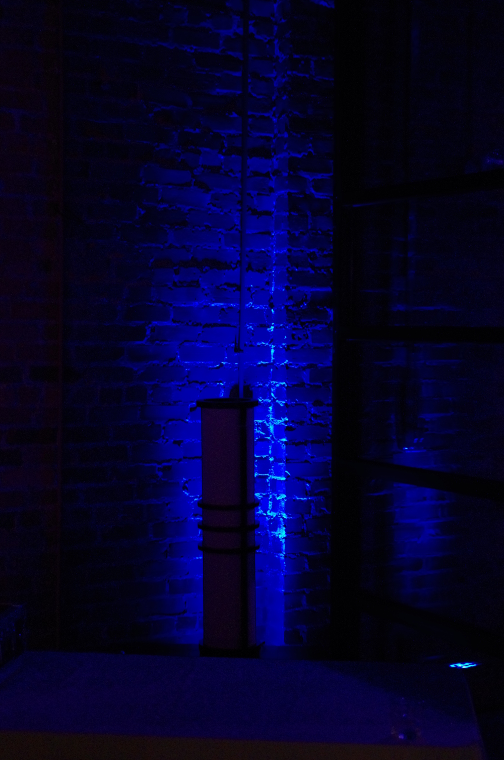 Blue Uplighting at The Venue in Asheville
