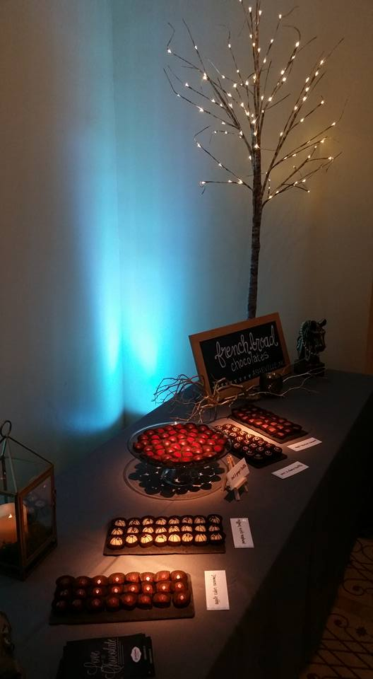 VIPs were treated to a special custom truffle bar by French Broad Chocolates!