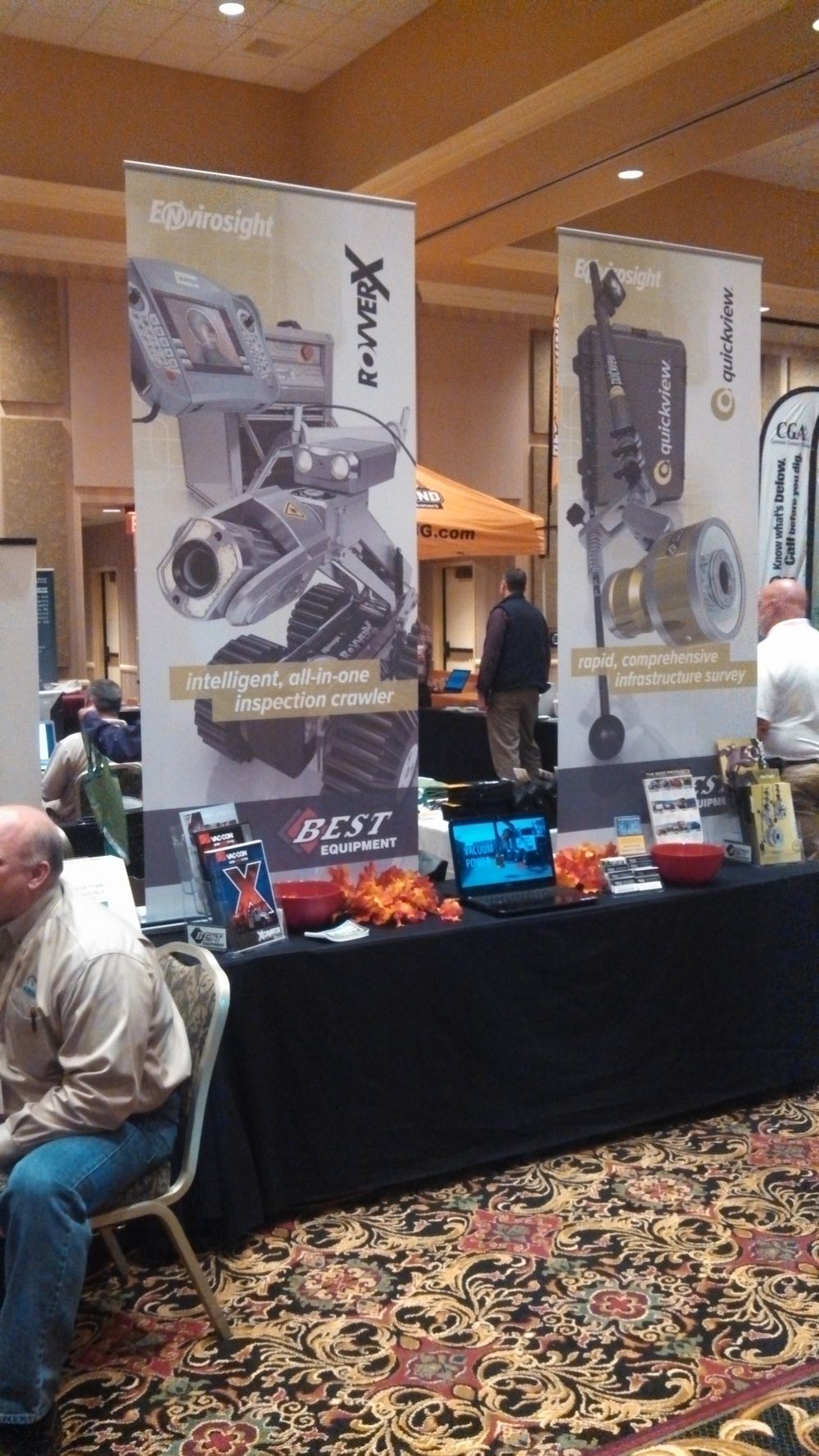 Best Equipment's booth at the 2013 MWDPTC.