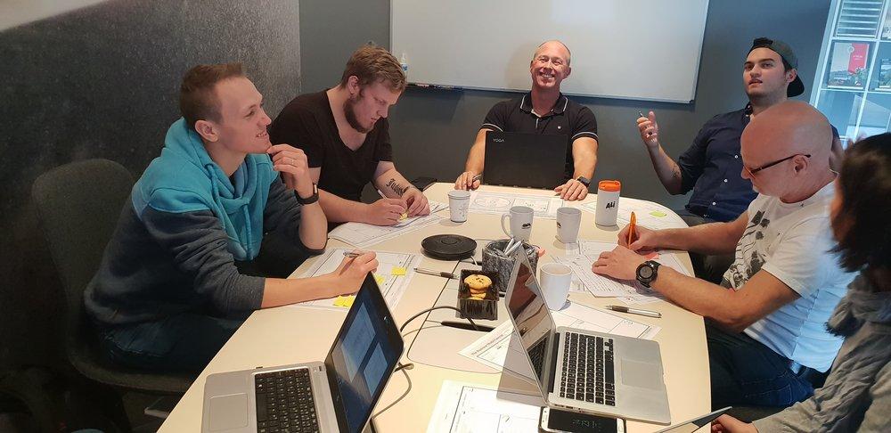 Gode diskusjonar og nyttig økt i Forretningsmodellering!