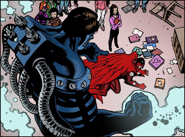 Line art: Doug Mahnke. Colors: Tom Nguyen