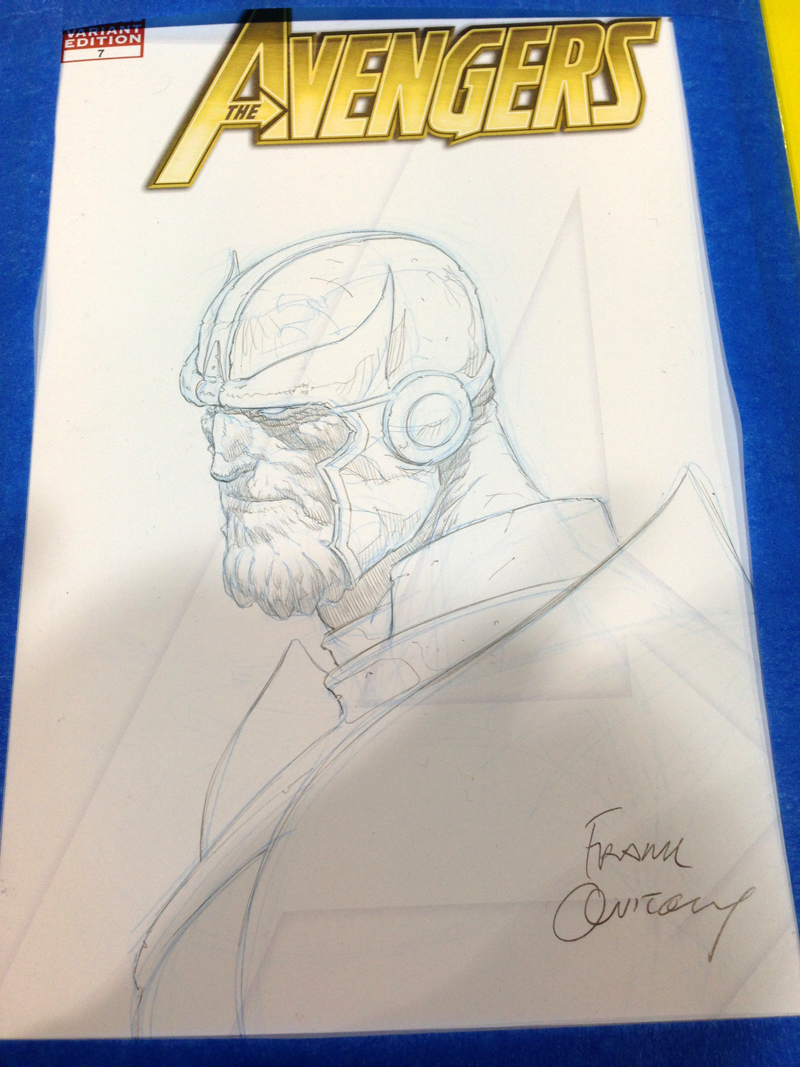 Frank Quitely pencil sketch.