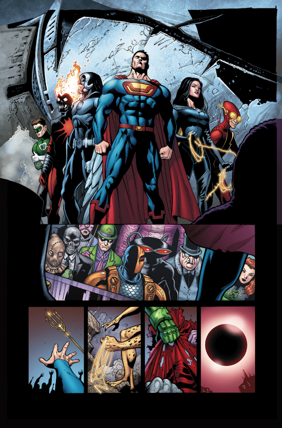 Pencils: Doug Mahnke Inks: Tom Nguyen Colors: Gabe Eltaeb