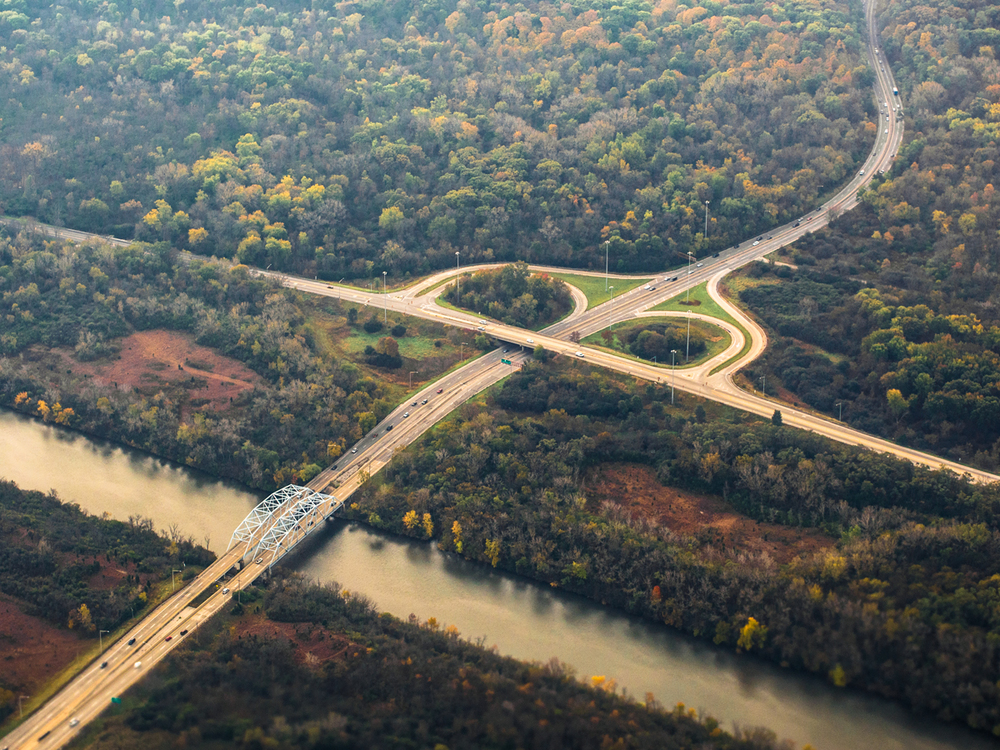 Approaching Chicago from San Antonio--pretty Autumn colors! :)  E-PL5 + 45mm/1.8