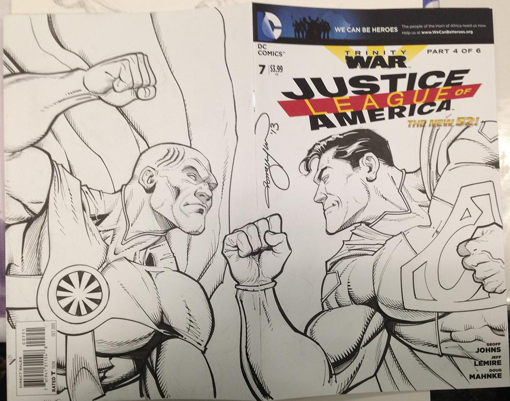 Martian Manhunter vs. Superman