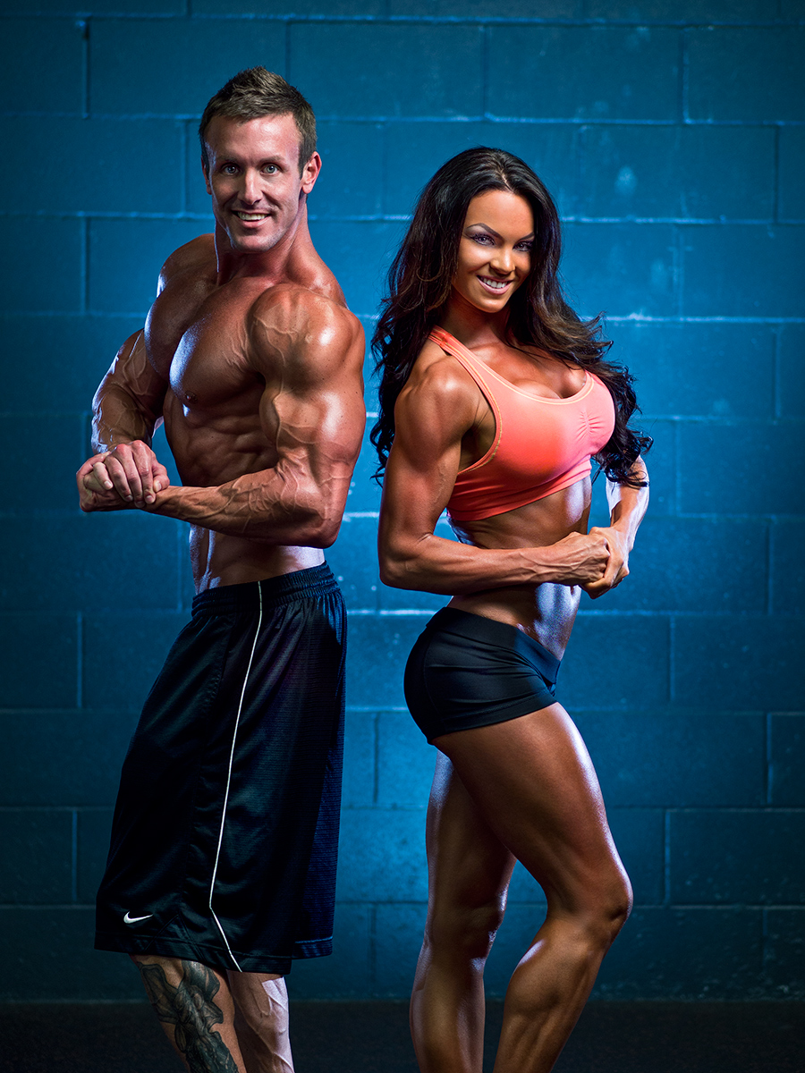 Fitness Photoshoot: Brandan and Amber — Tom Nguyen Studio for Bodybuilding Photography Lighting  131fsj