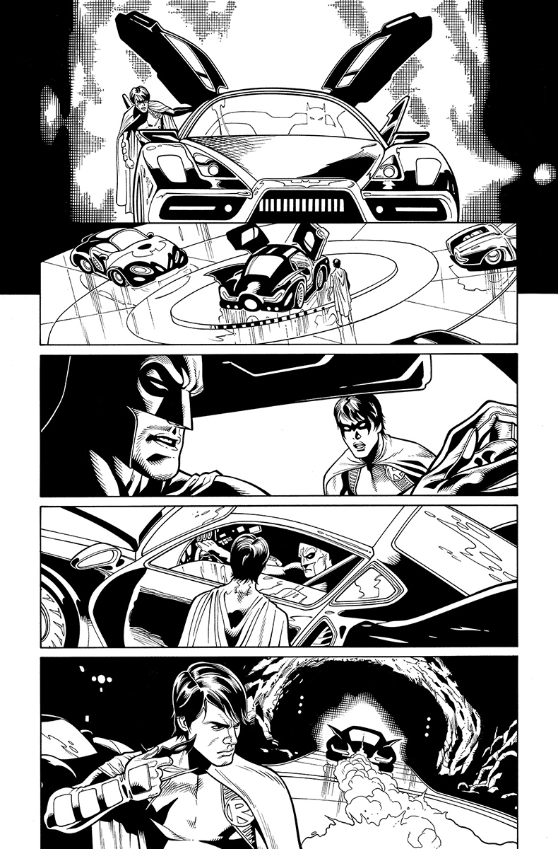 Batman and Robin Annual #2, page 17 Pencils: Doug Mahnke nks: Tom Nguyen (originally to go to Christian Alamy; later switched to me)