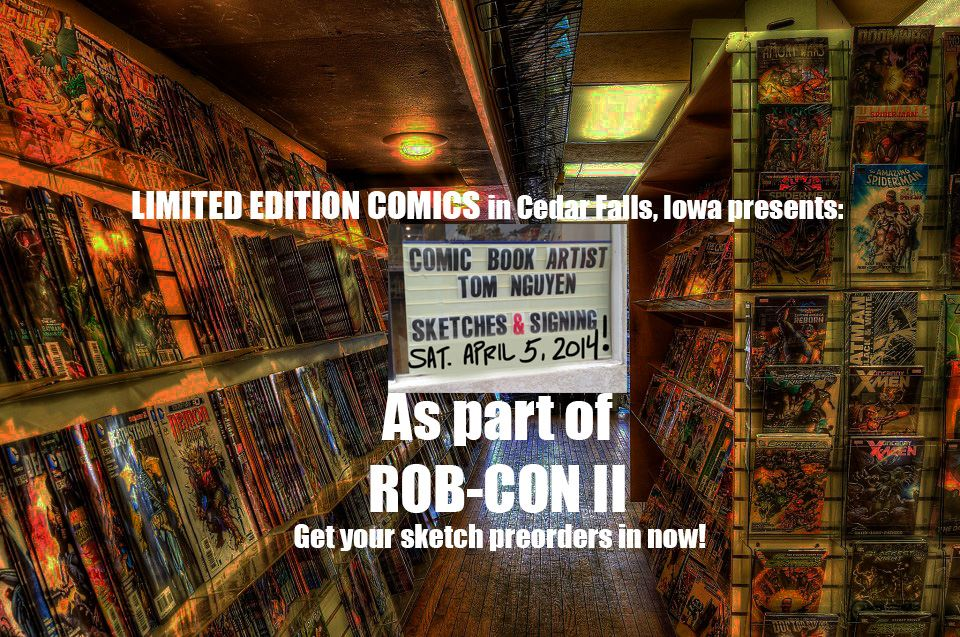 Limited Edition Comics & Collectibles 2225 College St. Cedar Falls, IA 50613 (319) 268-4094