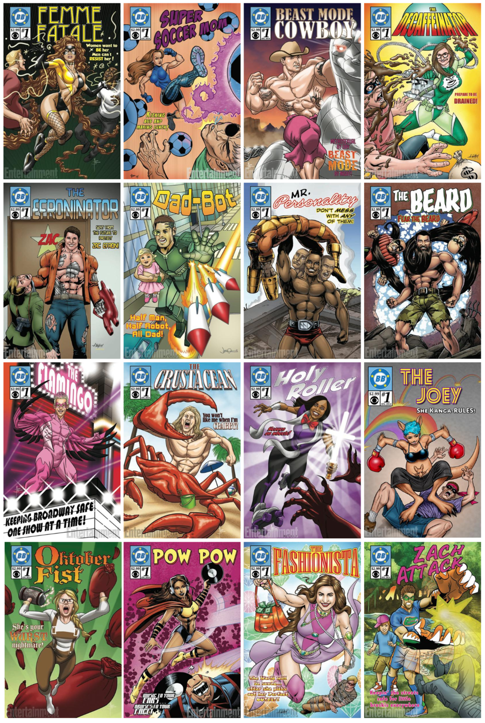 Here are all of the other comic covers done by:  Andy Smith ,  Josh Adams ,  Joe Martino , and  Michael Borkowski . Special thanks to  Gabriella Schnierle  for the help with the graphics/title placement!