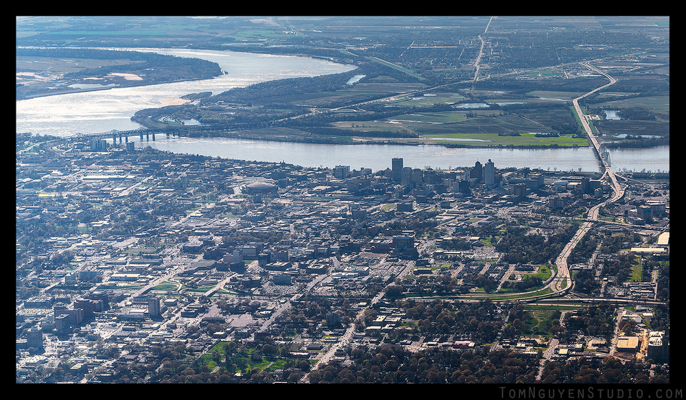 Flying out of Memphis, TN....shot from the plane with the Sony A7Rii + 55mm/1.8 lens.