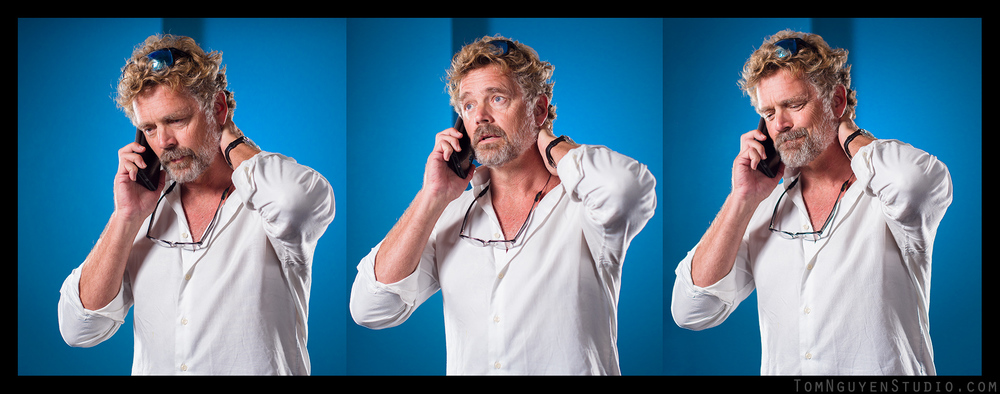 John Schneider looks cool even when talking on the phone!