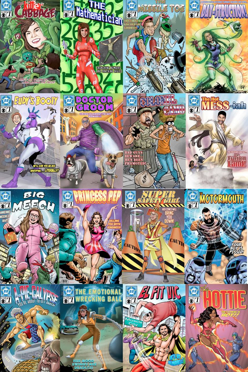 Here's a compendium of all the cool cover art done for this episode.