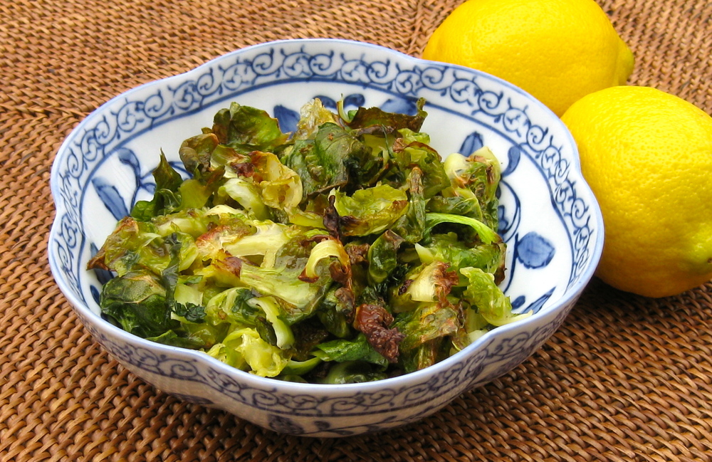 Lemony Brussels Sprouts Chips