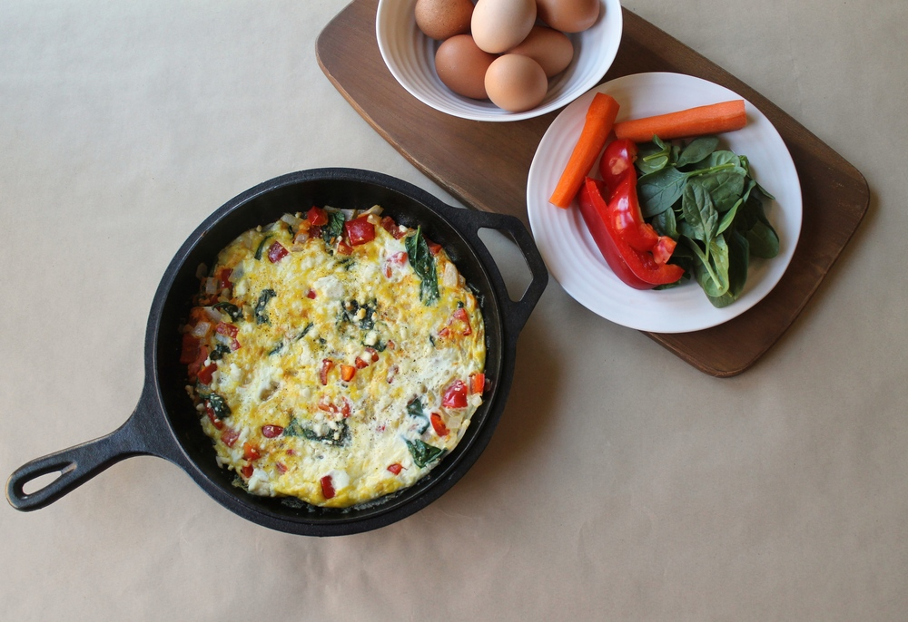 Vegetarian Frittata - A simple and fast meal any time of the day!