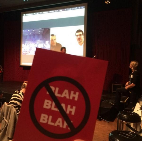 "The emblematic ""No Blah-Blah Card"" at Oslo Meets Value Proposition Design with  @ janneckedh  ,  @ evjohnsen   and  @ InnovasjonNorge"