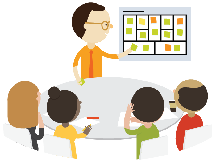 onboard executives with the business model canvas