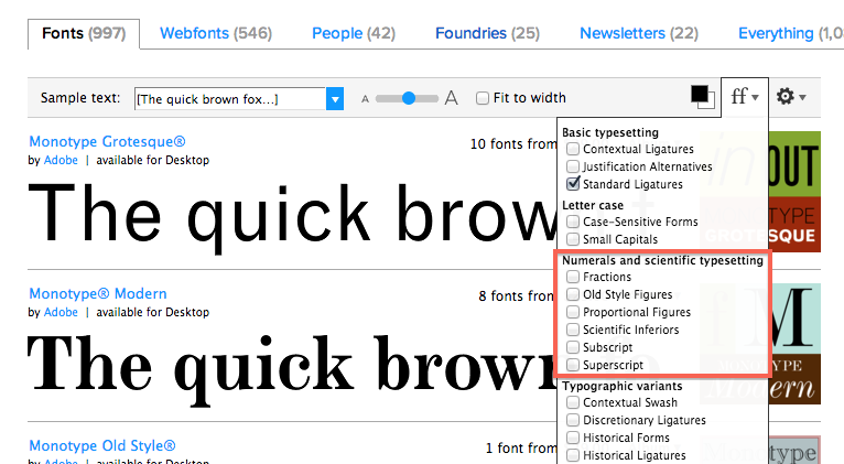 MyFonts.com, and other vendors, have ways to preview OpenType features before you buy a license.
