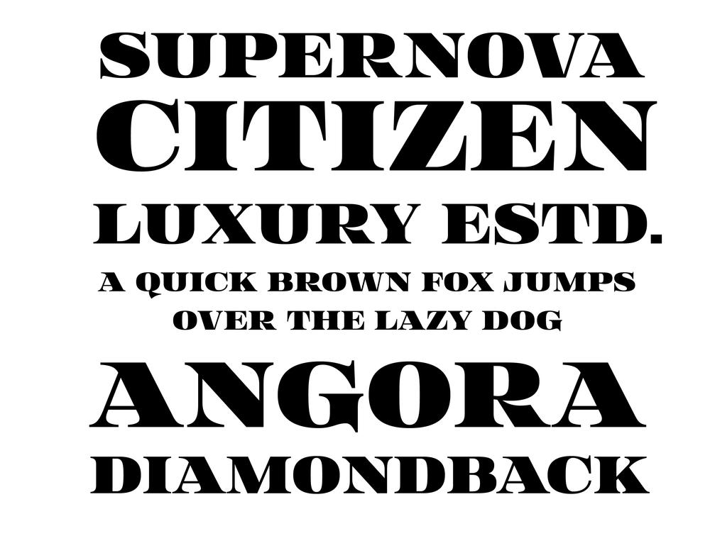 Canton typeface specimen