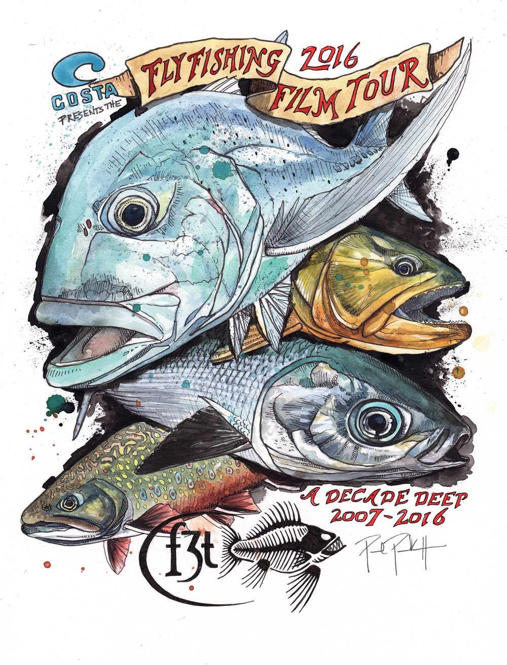 Fly Fishing Film Tour Poster 2016