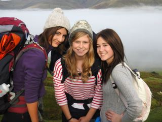Jess in the middle of her chemotherapy treatment completing her Silver DofE expedition in October 2012