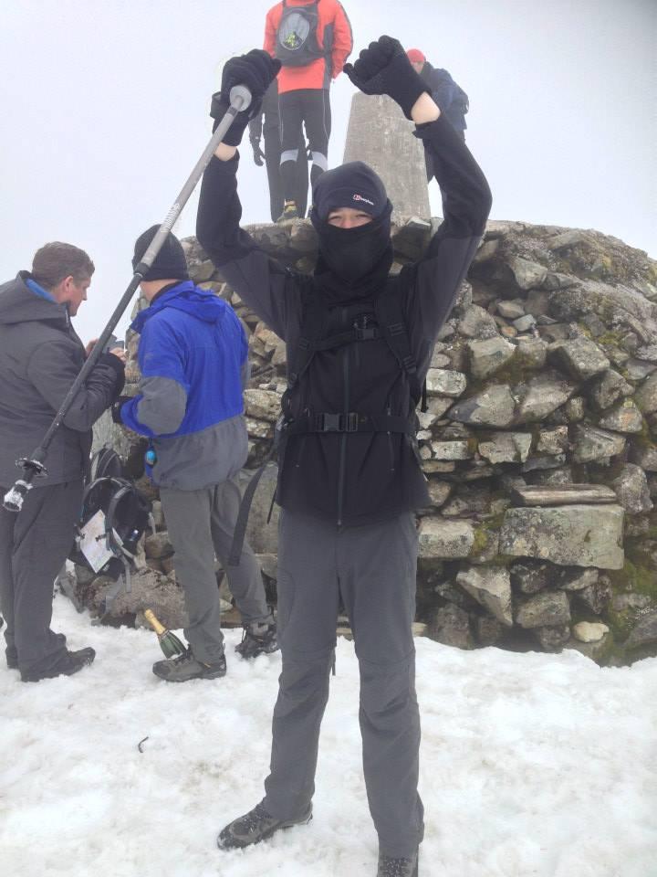 Tom at summit of Ben Nevis