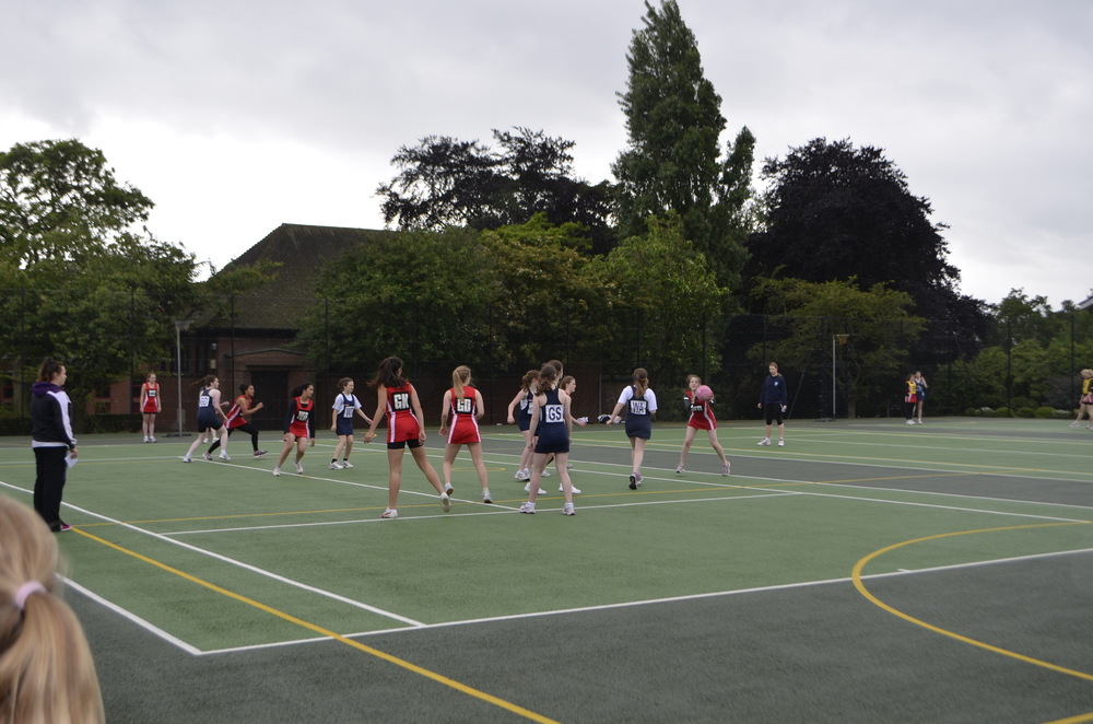 Netballers battling it out for the win
