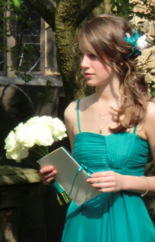 Our beautiful Jess as a bridesmaid for Jess and Will Blanche in April 2011