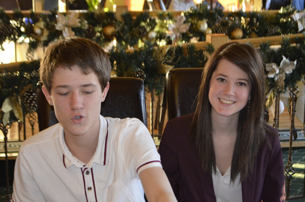 Tom and Jess at Nana's 80th 16.12.2012