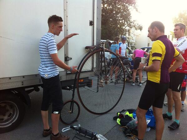 Matt and his Penny Farthing!!
