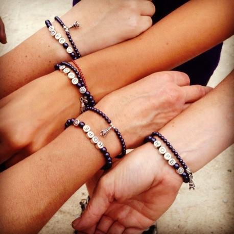 Hope Bracelets and Karen's Motivational Eiffel Tower Bracelets.