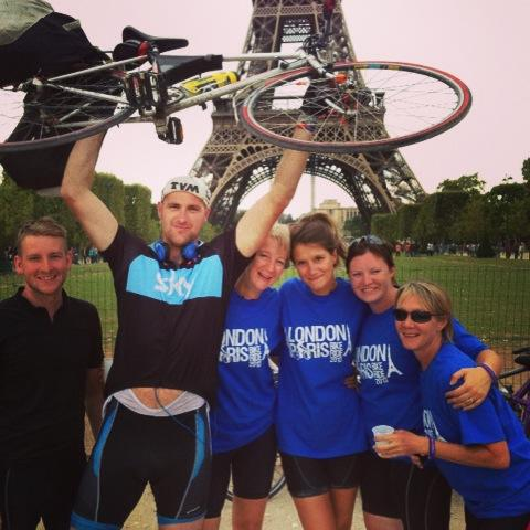 The Dream Team.  All cycled from London to Paris for Jess.